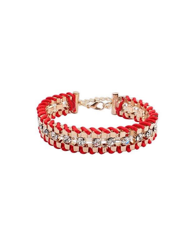 Occident Ethnic Customs Woven Rhinestone Hot Sale Bracelets